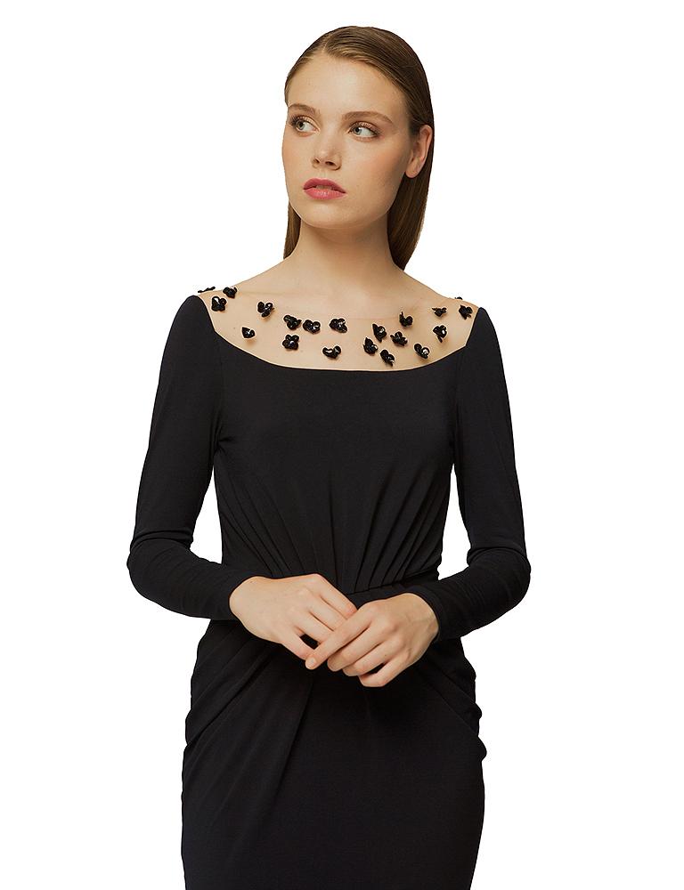 vestido detalle fruncido cintura