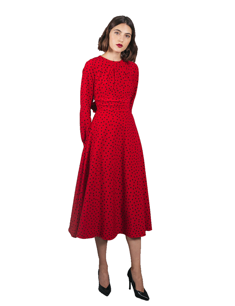 vestido sally rojo