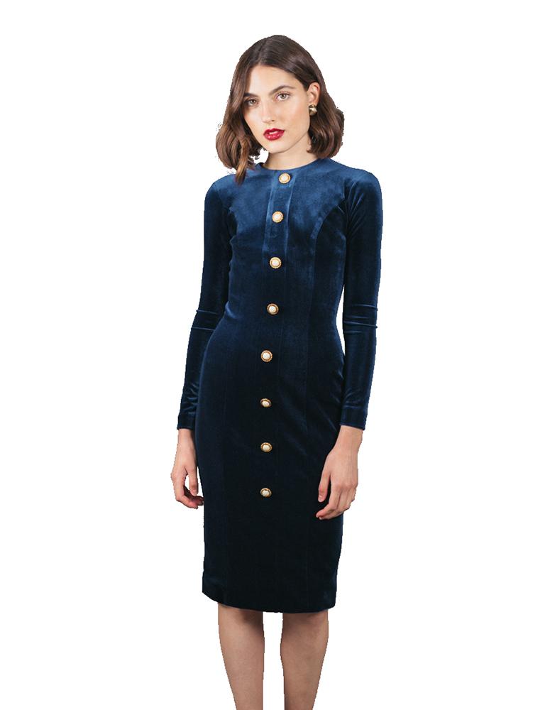 vestido spencer terciopelo