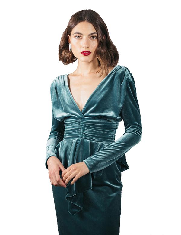 detalle vestido martine velvet