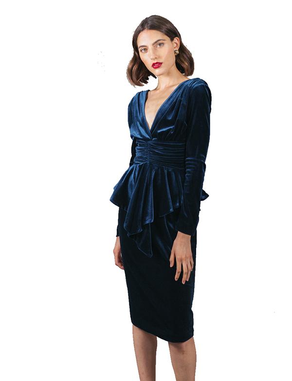 Vestido Martine velvet