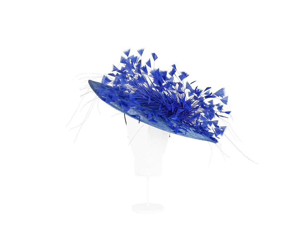 pamela con pomo plumas azul