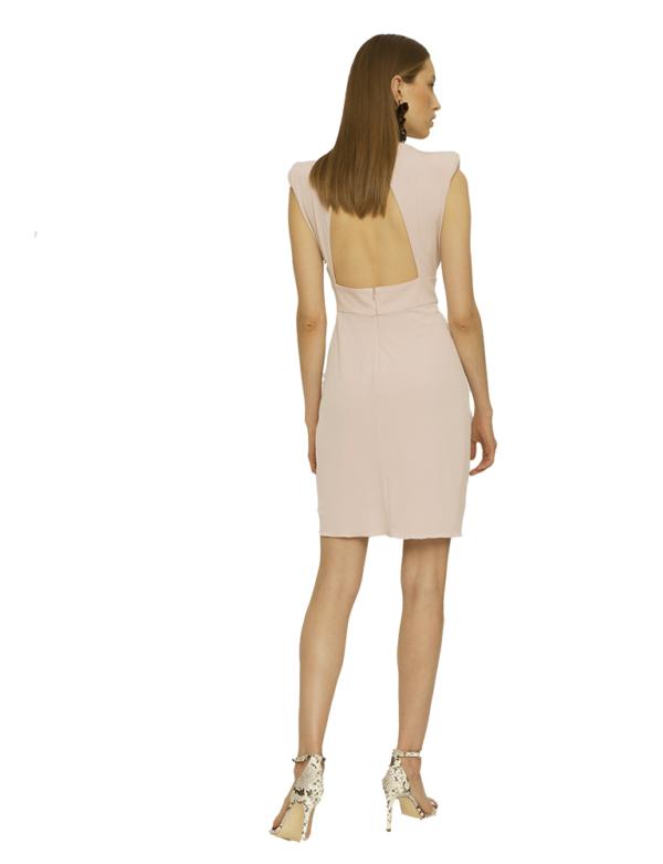 escote trasero vestido astridia colournude