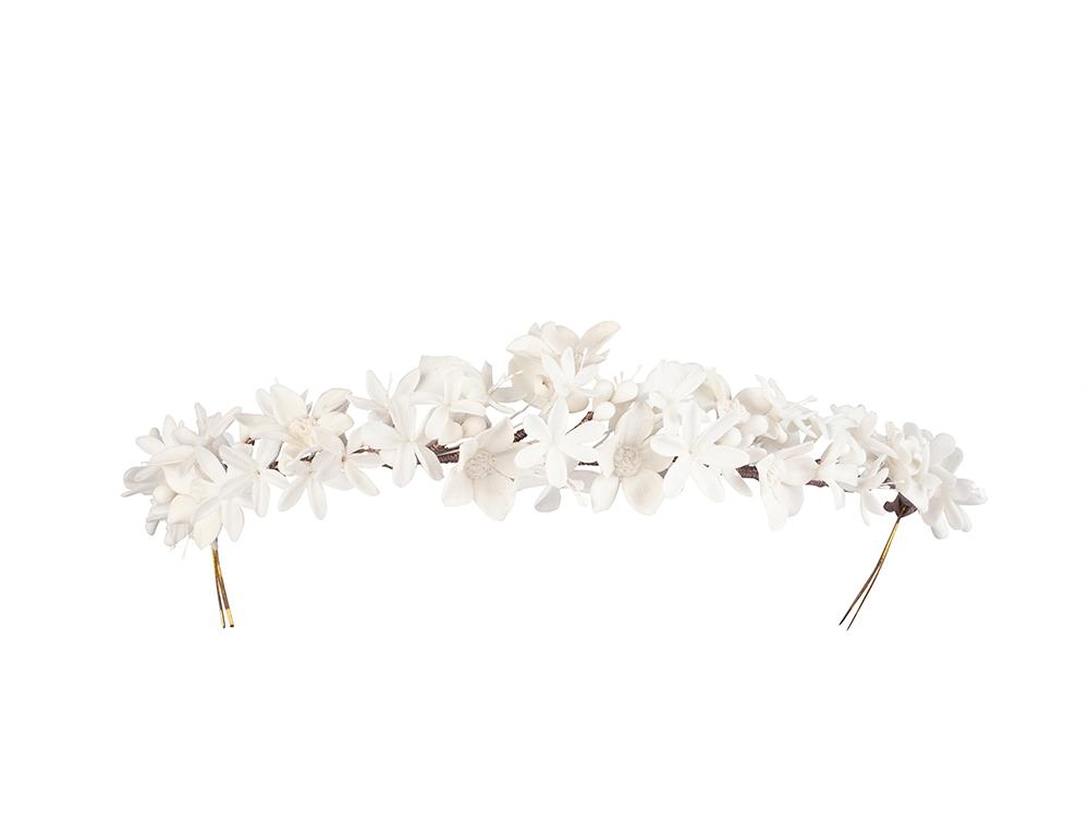 coronas flores porcelana