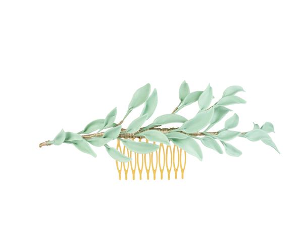 porcelana hojas verdes