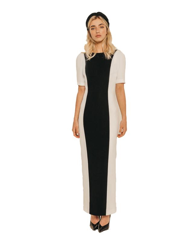 vestido bicolor petra