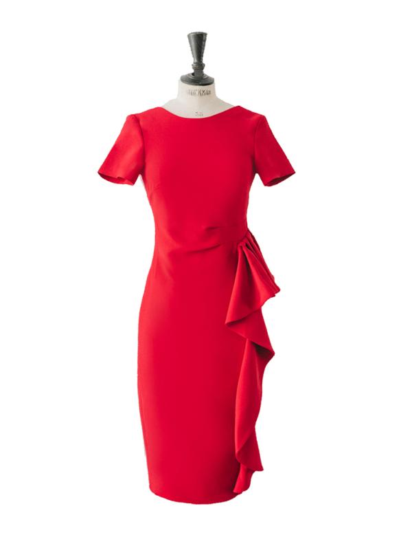 vestido lucile rojo