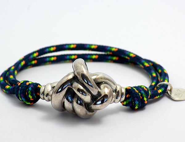 pulsera cuerda azul