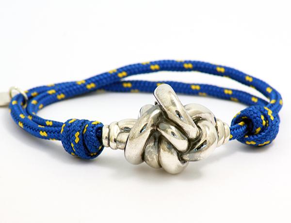 pulsera nudo pequeño cuerda azul