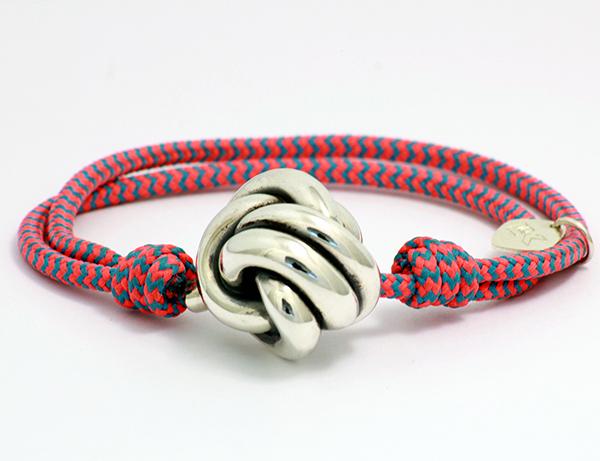 pulsera cuerda rosa