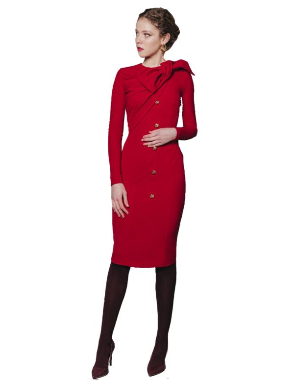 Vestido Soleil rojo